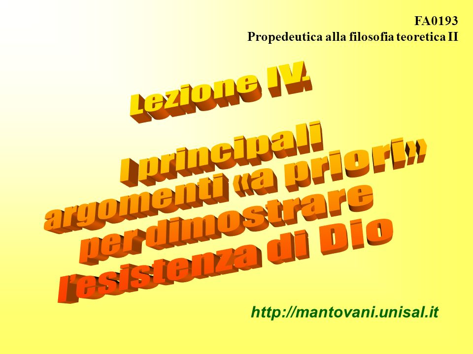 Innatismo e intuizionismo religioso (SSDA, pp.