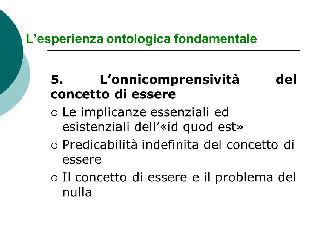 Lesperienza ontologica fondamentale 5.