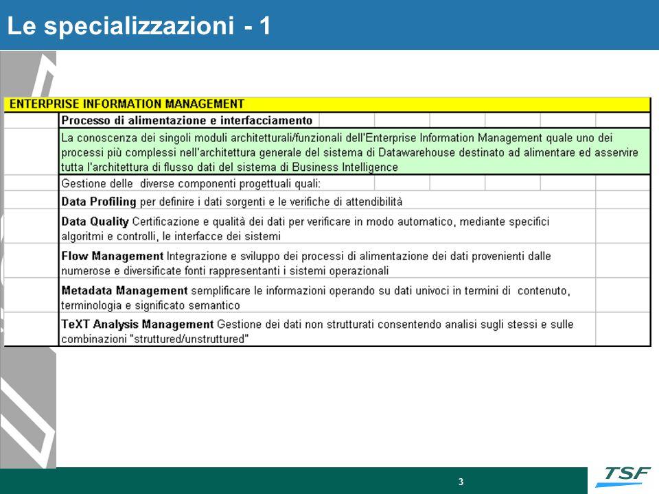 3 Le specializzazioni - 1