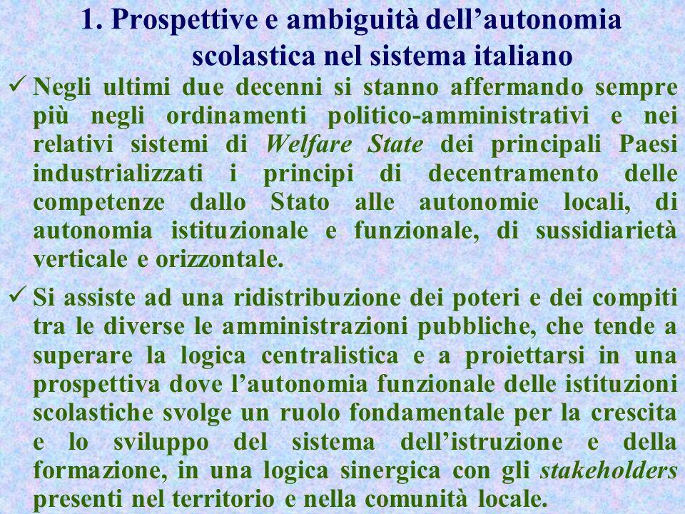 INDICE 1. PROSPETTIVE E AMBIGUITÀ DELLAUTONOMIA SCOLASTICA NEL SISTEMA ITALIANO 2. RUOLO E OBIETTIVI DELLOSSERVATORIO SULLA SCUOLA DELLAUTONOMIA 3.LAU