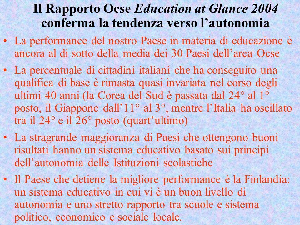 1. Prospettive e ambiguità dellautonomia scolastica nel sistema italiano Negli ultimi due decenni si stanno affermando sempre più negli ordinamenti po