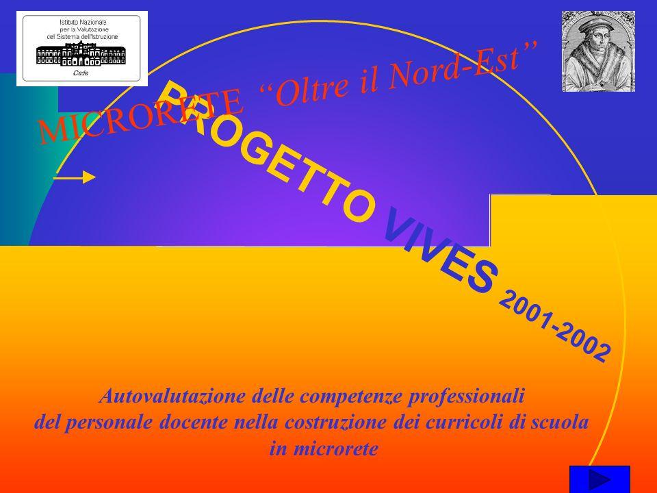 PROGETTO VIVES 2001-2002 Autovalutazione delle competenze professionali del personale docente nella costruzione dei curricoli di scuola in microrete M