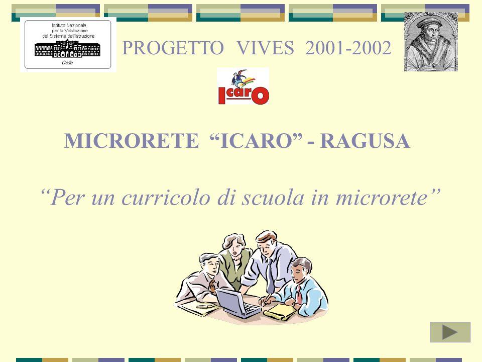 MICRORETE ICARO - RAGUSA PROGETTO VIVES 2001-2002 Per un curricolo di scuola in microrete