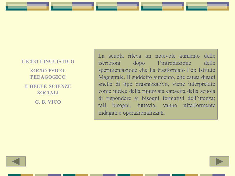 CIRCOLO DIDATTICO PALAZZELLO E SCUOLA MEDIA VANNANTO Le due scuole operano nello stesso bacino dutenza; non rilevano problemi di dispersione scolastica.
