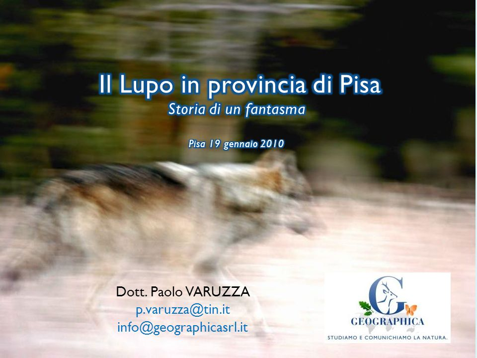 Dott. Paolo VARUZZA p.varuzza@tin.it info@geographicasrl.it