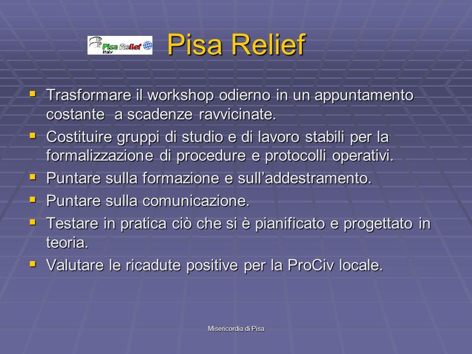 Misericordia di Pisa Pisa Relief Trasformare il workshop odierno in un appuntamento costante a scadenze ravvicinate.