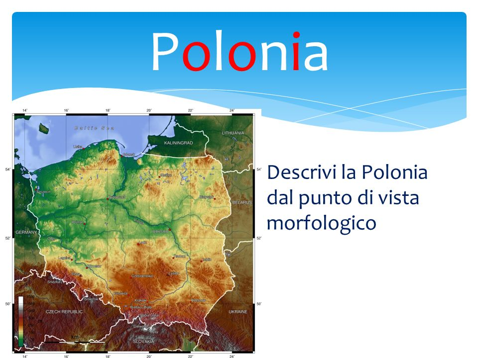 PoloniaPolonia Descrivi la Polonia dal punto di vista morfologico