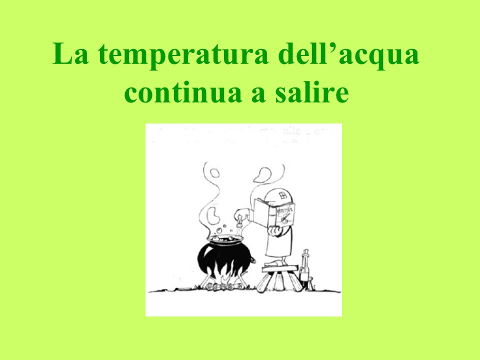 La temperatura dellacqua continua a salire