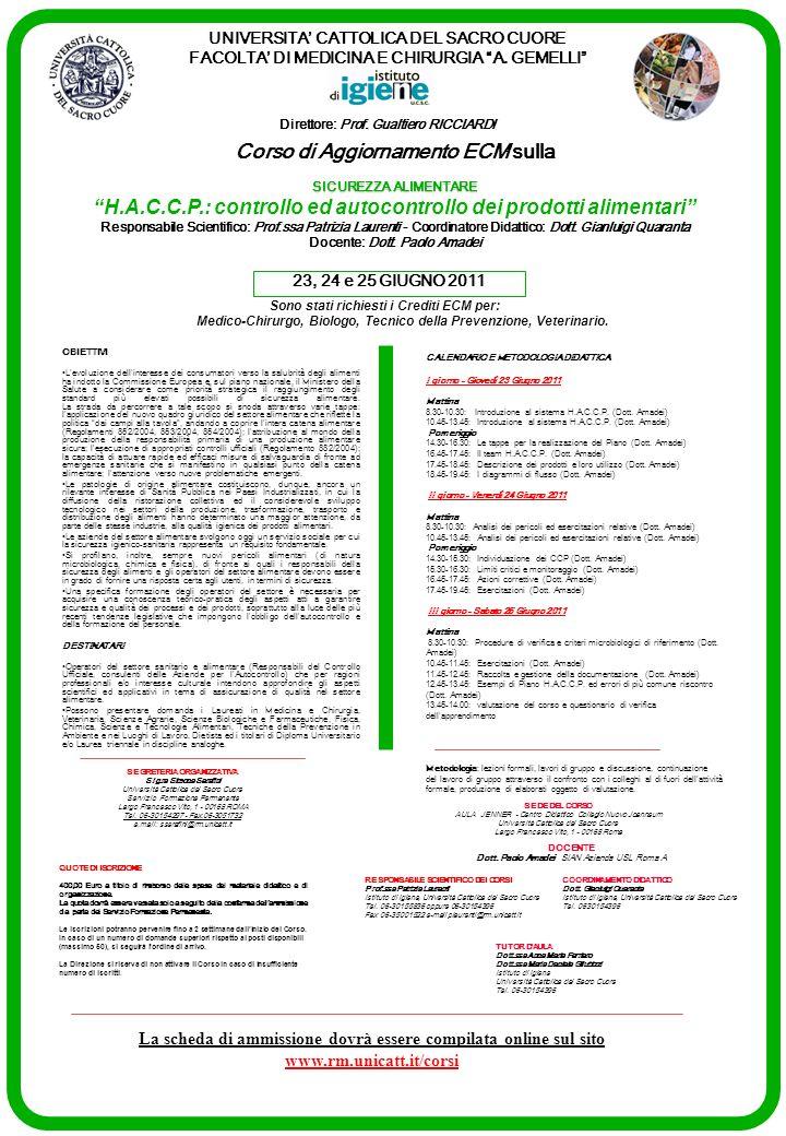UNIVERSITA CATTOLICA DEL SACRO CUORE FACOLTA DI MEDICINA E CHIRURGIA A. GEMELLI Direttore: Prof. Gualtiero RICCIARDI OBIETTIVI Levoluzione dellinteres