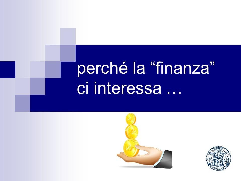 Perché esistono gli intermediari finanziari.