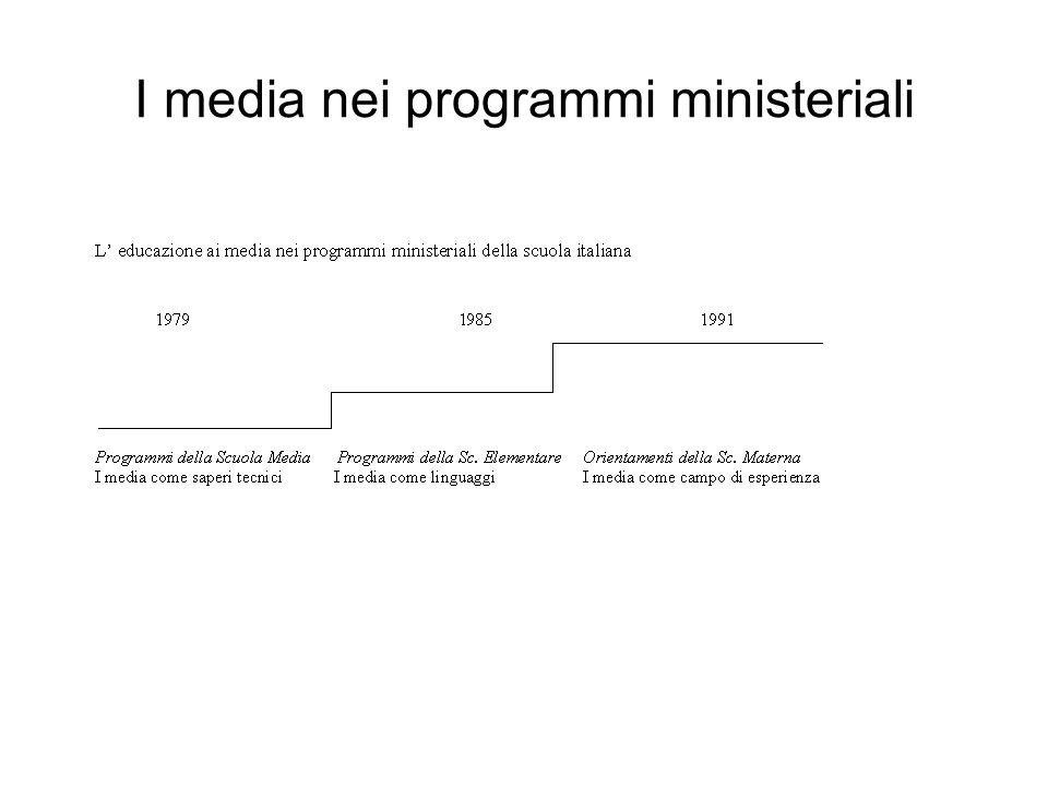Il quadro legislativo Tre limiti: la mancanza di una riflessione unitaria; la presenza di tre modelli di educazione ai media il rischio del by-pass tecnologico e della sovraesposizione dei new-media rispetto ai media tradizionali
