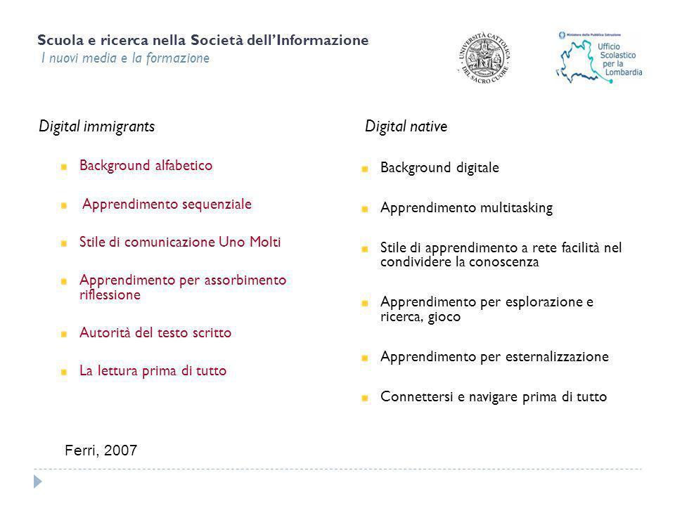 Scuola e ricerca nella Società dellInformazione I nuovi media e la formazione Quale ruolo per la scuola.