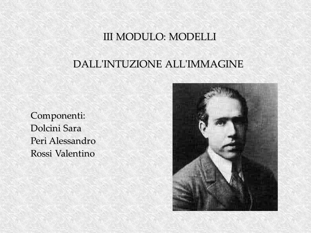 III MODULO: MODELLI III MODULO: MODELLI DALL INTUZIONE ALL IMMAGINE Componenti: Dolcini Sara Peri Alessandro Rossi Valentino