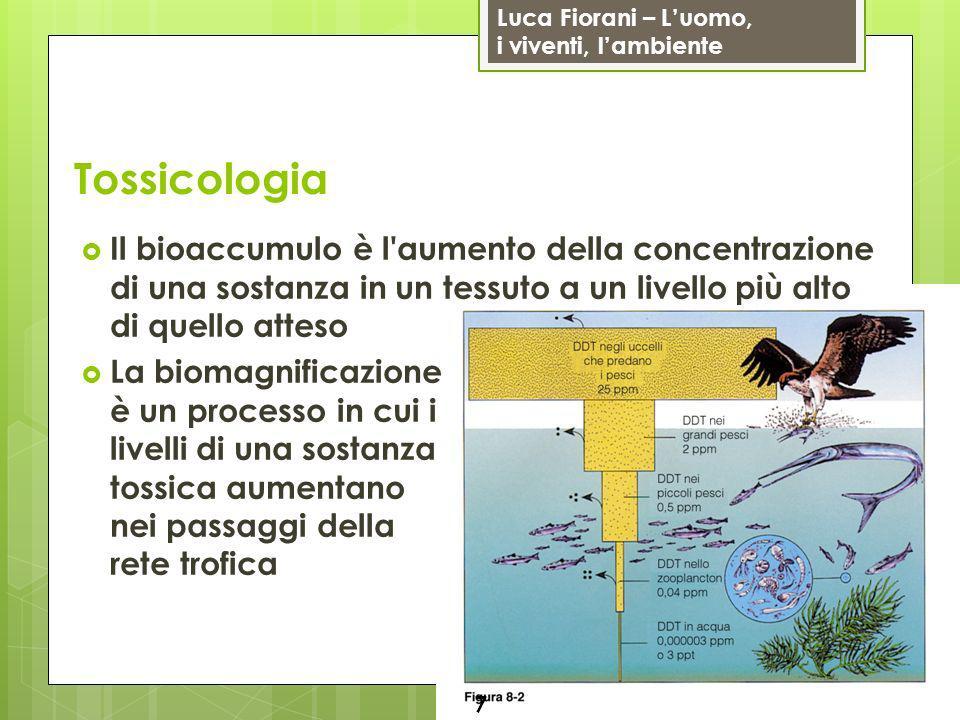 Luca Fiorani – Luomo, i viventi, lambiente Rischi chimici 18 Altre sostanze interferiscono con gli ormoni o imitandoli o bloccandoli