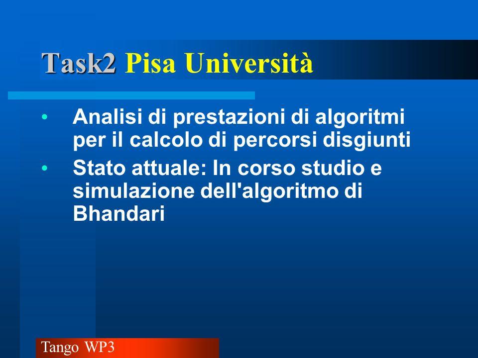 Tango WP3 Task2 Task2 Roma (1) Integrazione di strategie di Protezione/Ripristino nellambito della stessa piattaforma per differenziare lofferta di servizio per quanto riguarda il grado di affidabilità nella fornitura dello stesso.