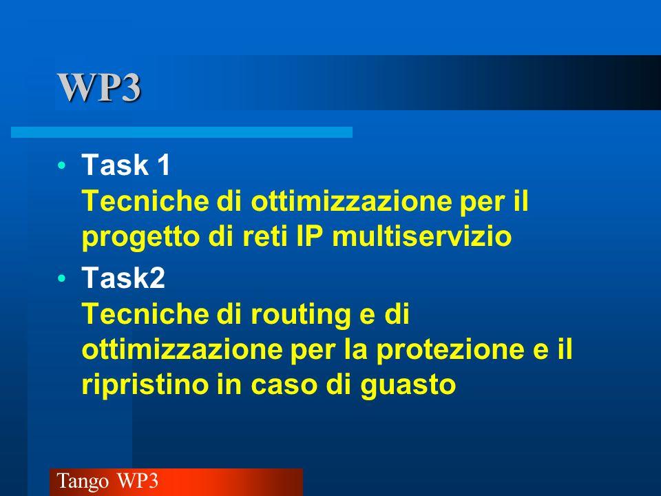Tango WP3 Task1 Tecniche di ottimizzazione per il progetto di reti IP multiservizio Studio e sperimentazione(.
