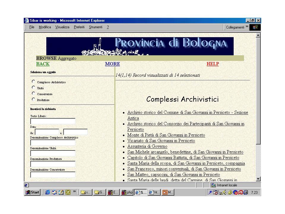 MIXER/ExtGas: IsisGas Il metaopac del CNR di Pisa
