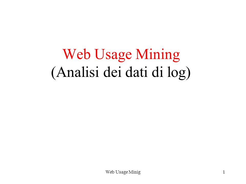 Web Usage Minig22