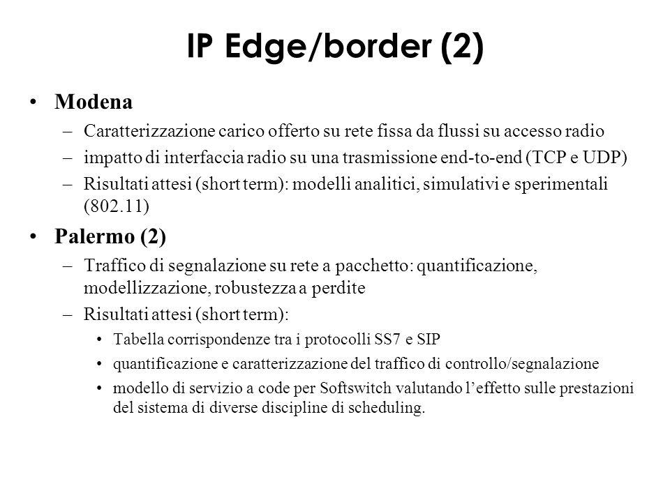 T4: Architettura e protocolli controllo CPR –piano di controllo integrato MultiProtocol (IntServ, H.323, SIP, ecc.) over DiffServ, basato su Bandwidth Broker (BB) e su COPS.