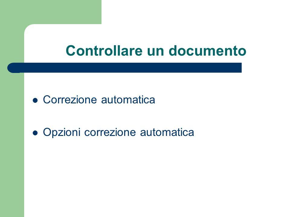 Controllare un documento Correzione automatica Opzioni correzione automatica