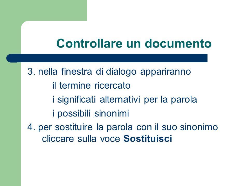 Controllare un documento 3.