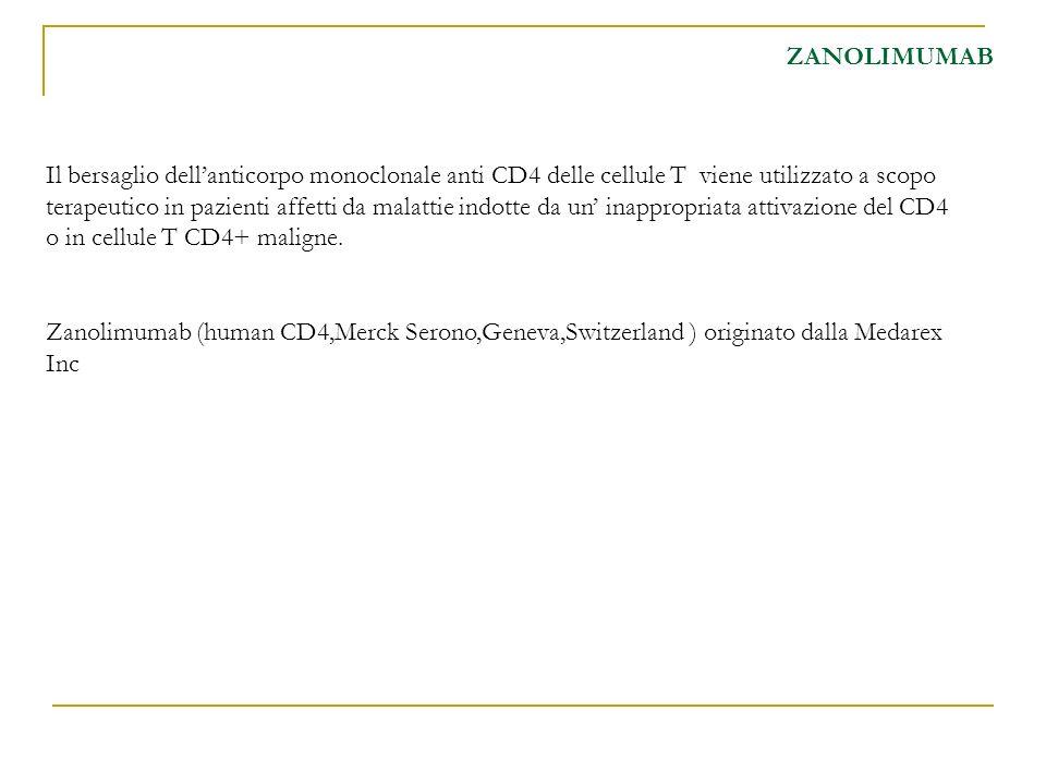 Il bersaglio dellanticorpo monoclonale anti CD4 delle cellule T viene utilizzato a scopo terapeutico in pazienti affetti da malattie indotte da un ina