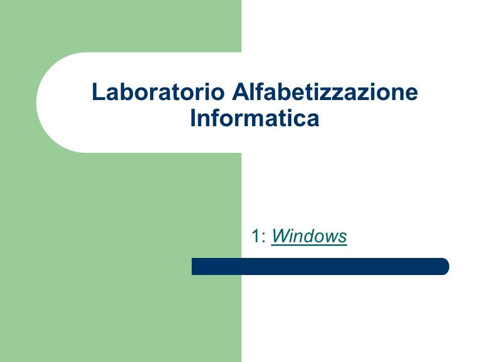 Laboratorio Alfabetizzazione Informatica 1: Windows