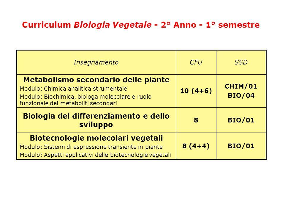 Curriculum Biotecnologie agrarie Il curriculum di Biotecnologie Agrarie permette il conseguimento della Laurea in Classe LM-7 (Biotecnologie Agrarie) e consente di acquisire conoscenze approfondite sulle applicazioni delle biotecnologie per la caratterizzazione, il miglioramento genetico e la conservazione delle risorse vegetali.