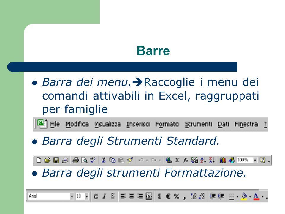 Barre Barra dei menu.