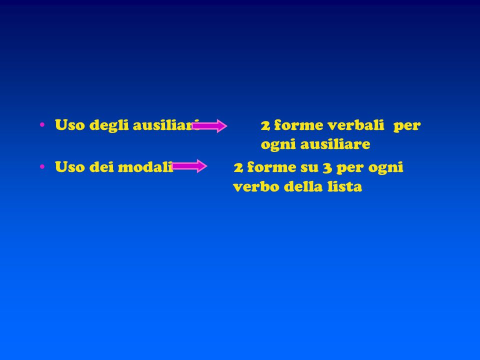 SEZIONI 1,2,3 – Come i bambini usano la grammatica Uso dei plurali e dell accordo nome - aggettivo risposta positiva = almeno 2 caselle su 3 per ogni