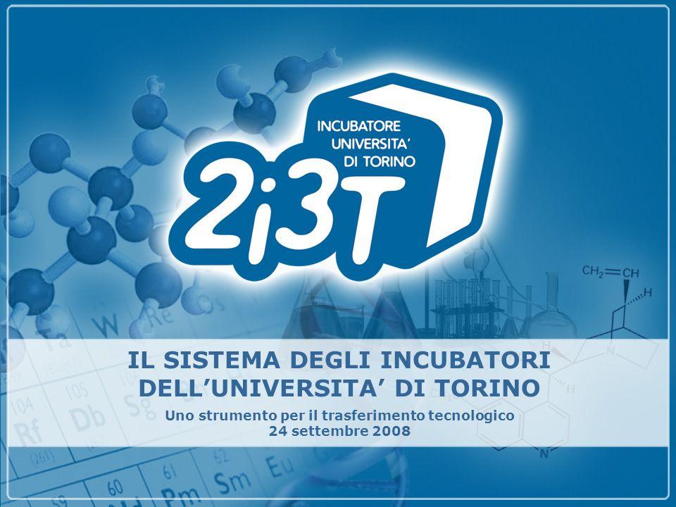 IL SISTEMA DEGLI INCUBATORI DELLUNIVERSITA DI TORINO Uno strumento per il trasferimento tecnologico 24 settembre 2008