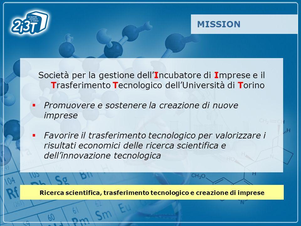 Società per la gestione dellIncubatore di Imprese e il Trasferimento Tecnologico dellUniversità di Torino Promuovere e sostenere la creazione di nuove