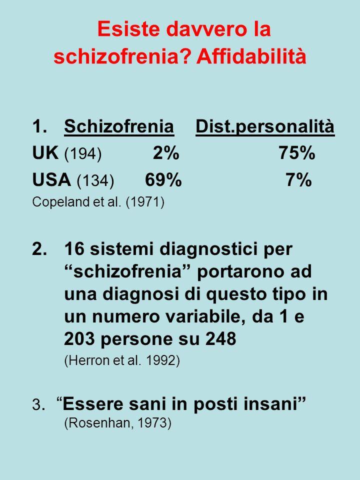 Implicazioni per la diagnosi Un sottotipo (dissociativo?) di schizofrenia legato a un trauma.