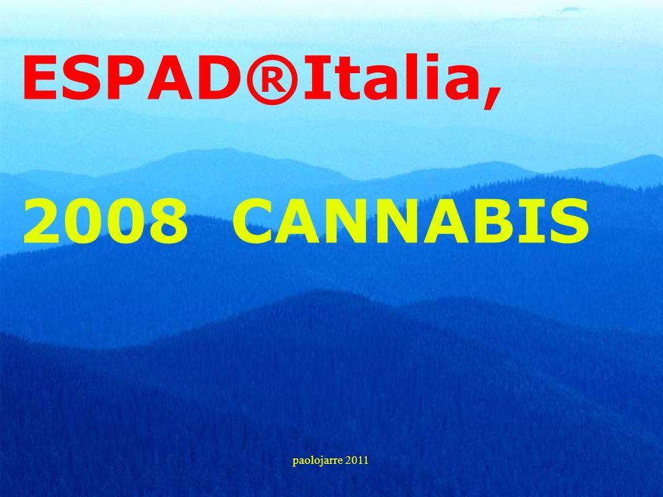 ESPAD®Italia, 2008 CANNABIS paolojarre 2011