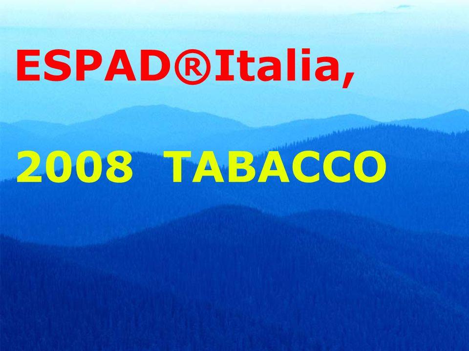 ESPAD®Italia, 2008 TABACCO