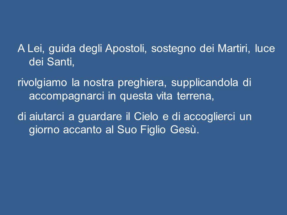 Cari fratelli e sorelle, affidiamoci a Colei che - come afferma il Servo di Dio Paolo VI – «assunta in cielo, non ha deposto la sua missione di interc