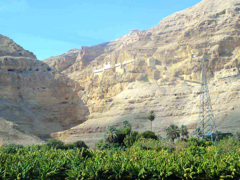 Gerico Palestina Gesù è tentato sul monte Deserto di Giuda