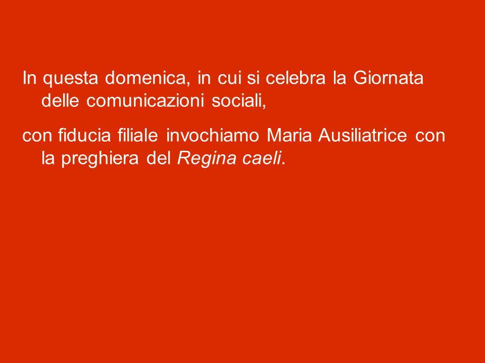Un pensiero speciale rivolgo anche ai ragazzi della Diocesi di Genova, radunati in questo momento a Roma, in Piazza San Pietro, per festeggiare la loro Cresima.