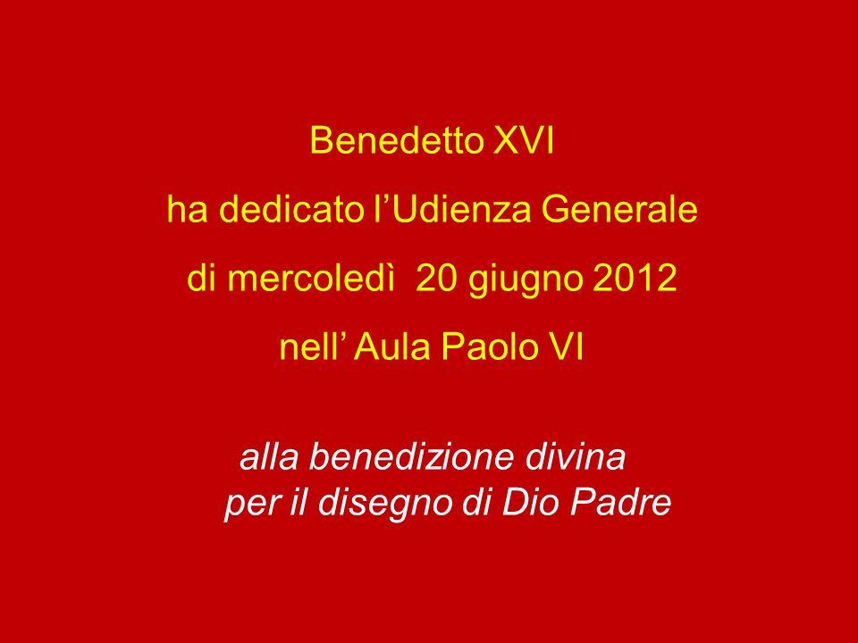Benedetto Dio, Padre del Signore nostro Gesù Cristo, che ci ha benedet- ti con ogni benedizione spirituale nei cieli in Cristo.