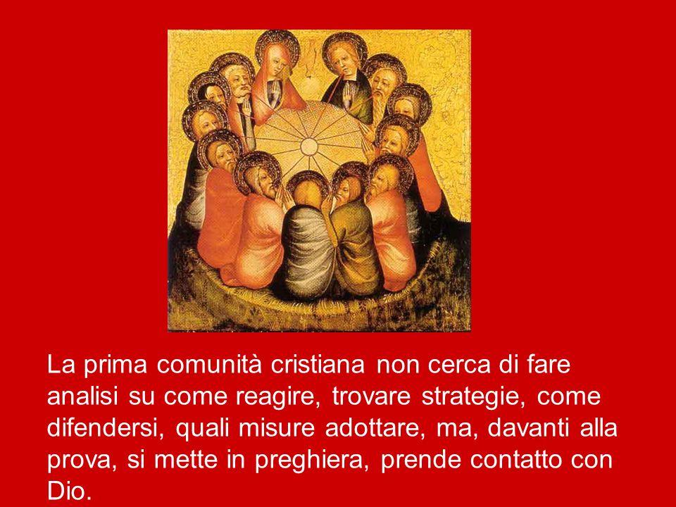 Qui san Luca riporta la più ampia preghiera della Chiesa che troviamo nel Nuovo Testamento, alla fine della quale, come abbiamo sentito, «il luogo in