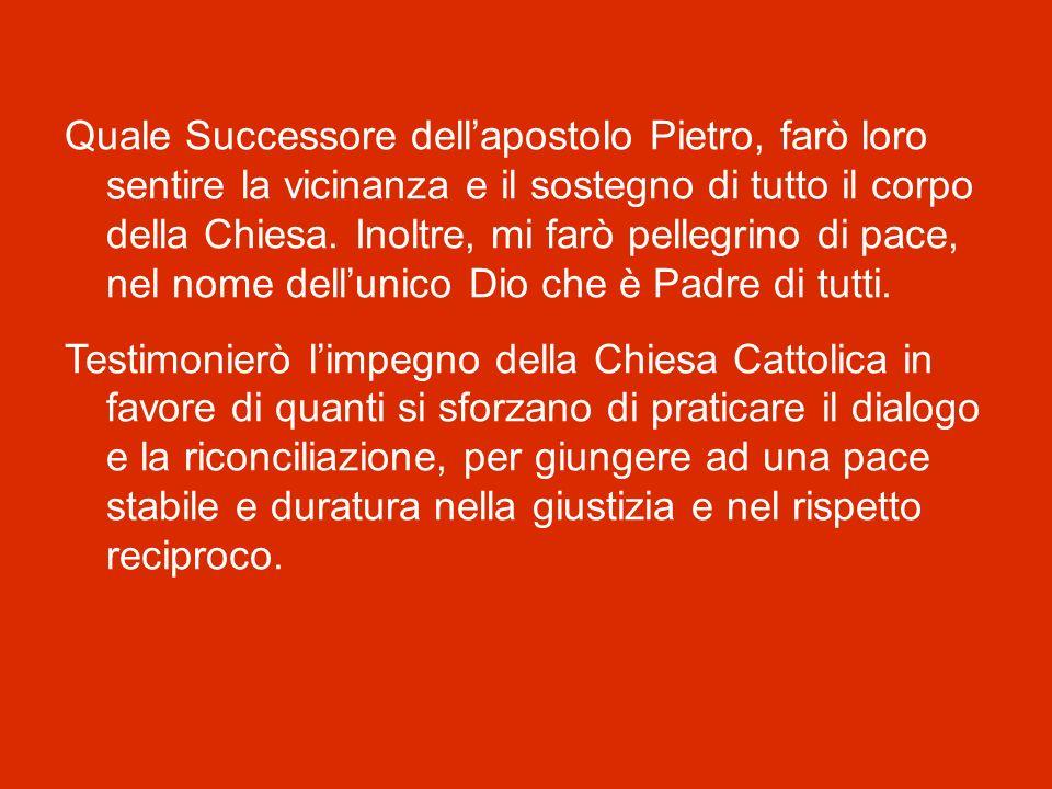 Che compirò, a Dio piacendo, dal prossimo venerdì 8 maggio al venerdì 15. Sulle orme dei miei venerati predecessori Paolo VI e Giovanni Paolo II, mi f