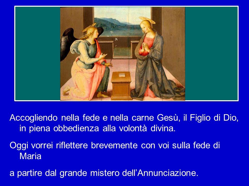 Nel cammino dellAvvento la Vergine Maria occupa un posto particolare come colei che in modo unico ha atteso la realizzazione delle promesse di Dio,