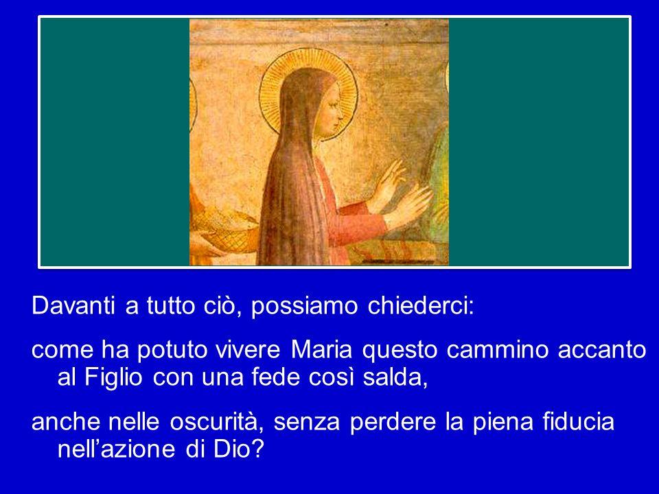 E il «sì» di Maria alla volontà di Dio, nellobbedienza della fede, si ripete lungo tutta la sua vita, fino al momento più difficile, quello della Croc