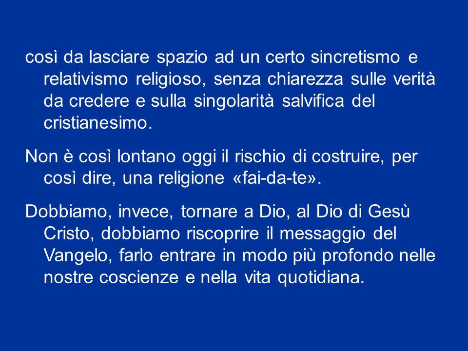 Il cristiano spesso non conosce neppure il nucleo centrale della propria fede cattolica, del Credo