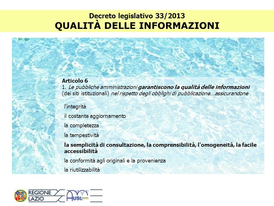 Decreto legislativo 33/2013 PROGRAMMA TRIENNALE PER LA TRASPARENZA E LINTEGRITÀ IL PROGRAMMA È STATO ADOTTATO CON DELIBERA DEL COMMISSARIO STRAORDINARIO N.