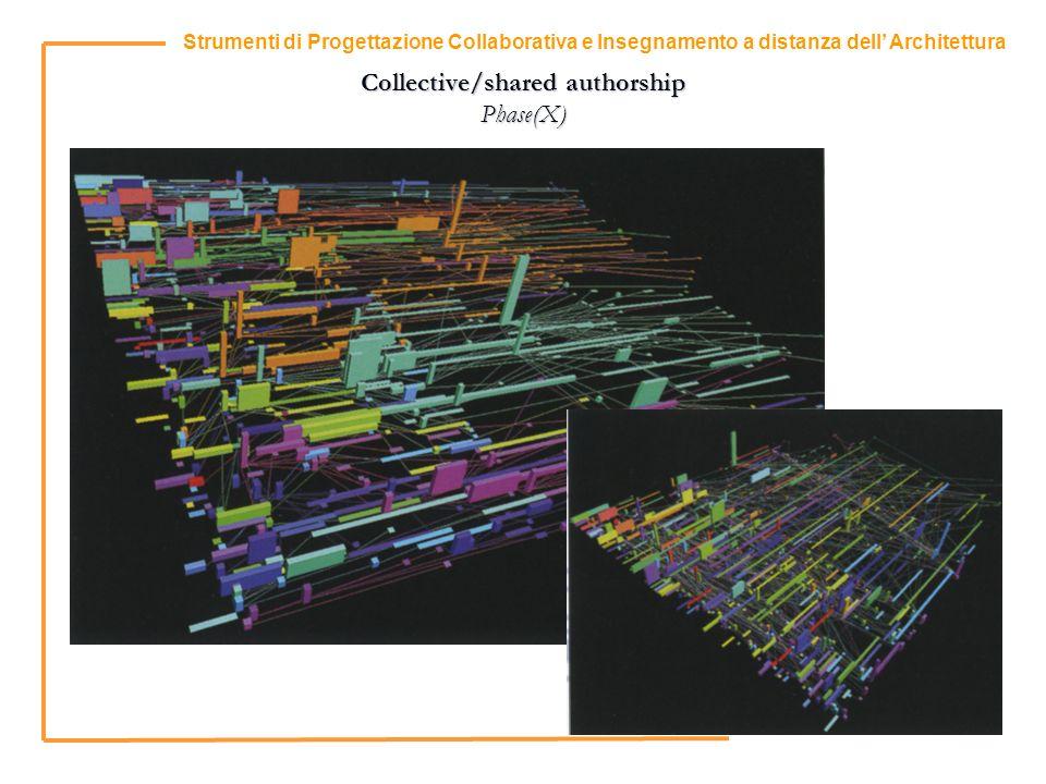 13 Strumenti di Progettazione Collaborativa e Insegnamento a distanza dell Architettura Collective/shared authorship Phase(X)