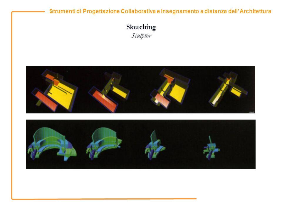 4 Strumenti di Progettazione Collaborativa e Insegnamento a distanza dell Architettura Sketching Sculptor