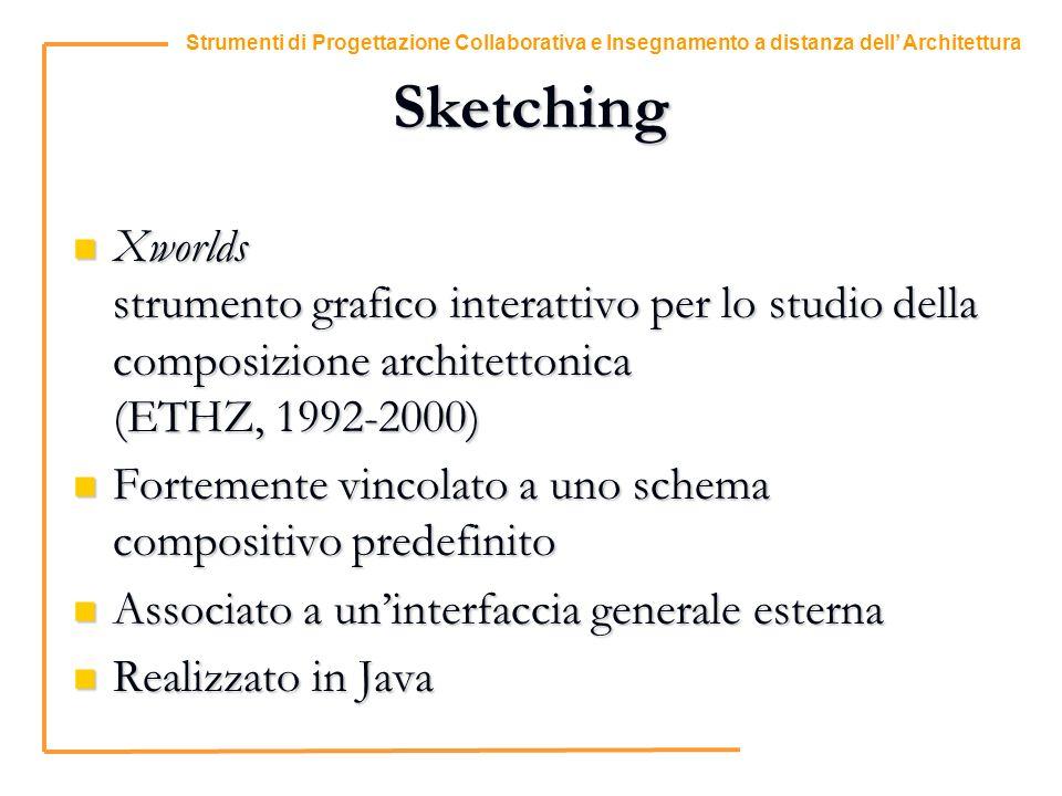 6 Strumenti di Progettazione Collaborativa e Insegnamento a distanza dell Architettura Sketching Xworlds