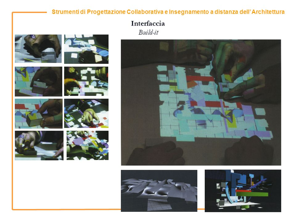 9 Strumenti di Progettazione Collaborativa e Insegnamento a distanza dell Architettura Interfaccia Build-it