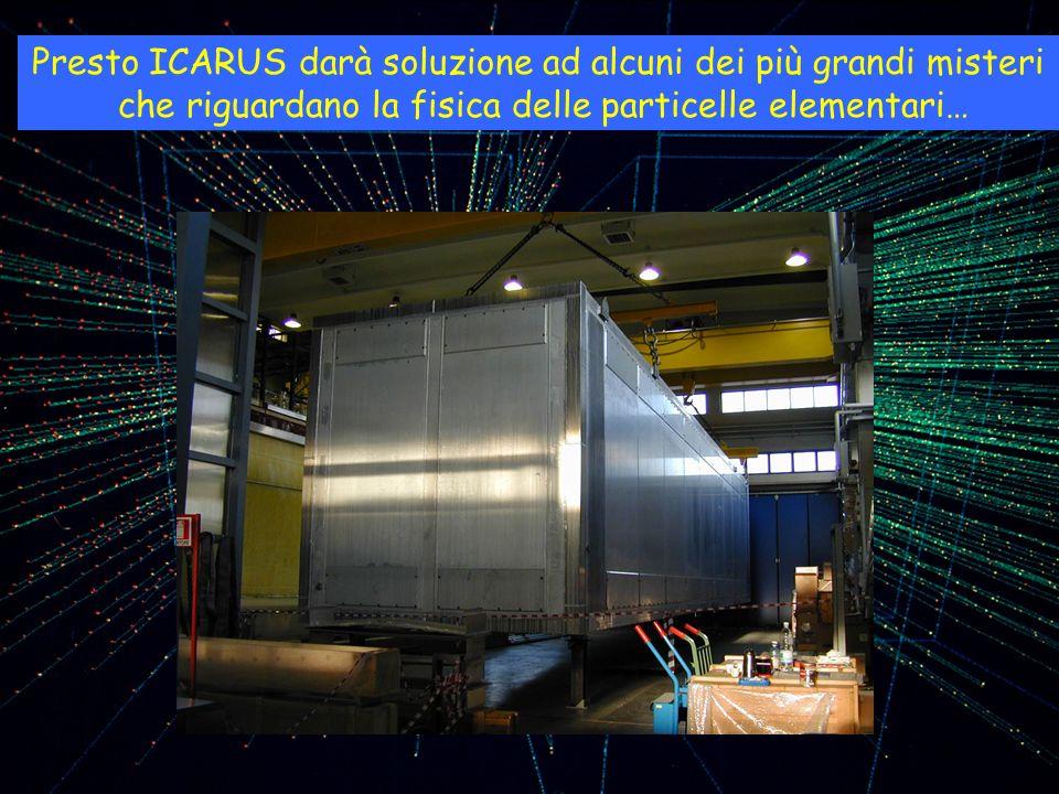 Presto ICARUS darà soluzione ad alcuni dei più grandi misteri che riguardano la fisica delle particelle elementari…